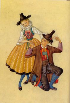 Millions of antique postcards are waiting for you! Small towns, traditional crafts, various topics… Find the postcards you were looking for! Austria, Costumes Couture, Folk Costume, Tole Painting, Vintage Cards, Alps, Folk Art, Disney Characters, Fictional Characters