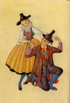 Osttirol, Lienz - Österreichs Trachtenbüchlein, Gemalt von MARIA REHM, Pinguin-Verlag, Innsbruck, 9. Auflage 1981, Copyright 1954 by Pinguin-Vertag, Innsbruck