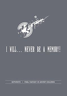 Final Fantasy Words of Wisdom: Sephiroth