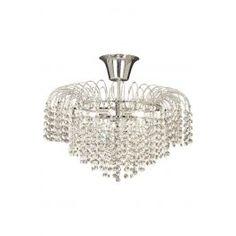 Diamant-kristalliplafondi, kromi-kirkas