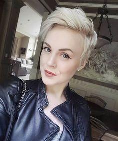 Blonde pixie cut via Sarah H