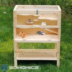Diy Hamster House, Guinea Pig House, Hamster Cages, Guinea Pigs, Gerbil, Custom Woodworking, Woodworking Projects Plans, Mouse Cage, Small Animal Cage
