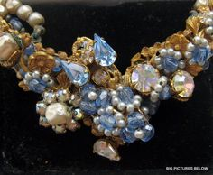 WOW Vintage Necklace unsigned MIRIAM HASKELL Baroque Pearl Rhinestone Crystal 1950s Jewelry, Vintage Costume Jewelry, Vintage Costumes, Vintage Jewelry, Queens Jewels, Miriam Haskell, Himmelblau, Opal Necklace, Baroque Pearls