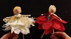 Learn how to make a Poinsettia fairy doll in this great DIY holiday gift idea tutorial. This fairy doll tutorial is a great gift idea for kids. Christmas Fairy, Christmas Angels, Christmas Crafts, Christmas Ornaments, Fairy Crafts, Fun Crafts, Crafts For Kids, Diy Holiday Gifts, Clothespin Dolls