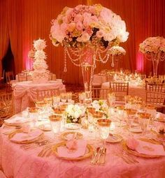 Peach and Ivory Wedding Centerpieces | Shanna and Brandon's Wedding Blog: Elegant and Sophisticated...Ivory ...