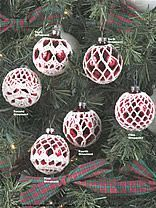 free crocheted ornament cover patterns | FREE CHRISTMAS ORNAMENT BALL COVER…