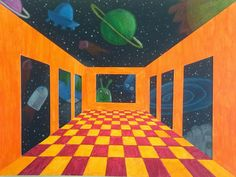 draw a perspective room and imagine it floating in the universe. So impressive!
