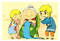 The Legend of Zelda Wind Waker / Link, Aryll and Grandma! / 「おばあちゃんの手作りマフラー」/「グッピー@ムジュラ」の漫画 [pixiv]