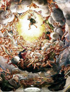 Correggio, Assunzione della Vergine, Parma - http://ilsassonellostagno.wordpress.com/2014/08/15/correggio-assunzione-della-vergine-15-agosto/