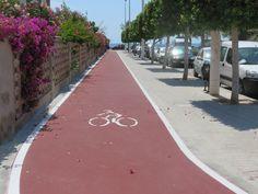 Carril bici realizado por Global Grass en el Puerto de Sagunto