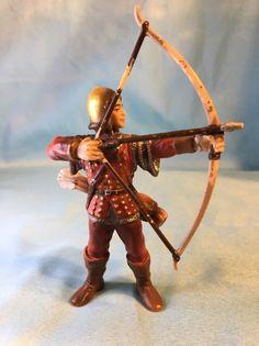 Schleich World of Knights 70015 Red Archer with Bow & Arrow 2003 Retired  | eBay