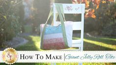 How to Make a Giant Jelly Roll Tote Bag | with Jennifer Bosworth of Shabby Fabrics - YouTube