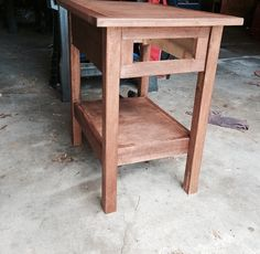 End Table with Remote Drawer - buildsomething.com Woodworking End Table, End Tables, Remote, Drawers, Shelf, Simple, Furniture, Home Decor, Mesas