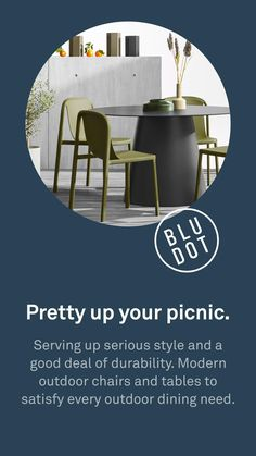 Modern Dining Table, Patio Dining, Dining Table Chairs, Outdoor Dining, Outdoor Tables And Chairs, Modern Outdoor Furniture, Patio Makeover, Small Patio, Picnic Table