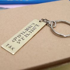 diy hand made personalized keychain metal keychain men gift