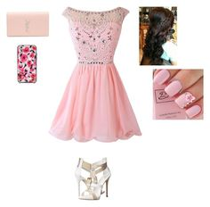 """""""Going to prom"""" by harrystylesandliampayne ❤ liked on Polyvore featuring Giuseppe Zanotti, Yves Saint Laurent and Kate Spade"""