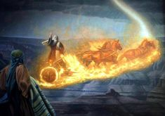 elijah and the chariot of fire - Yahoo Image Search Results. Okay, so not an angel but a Divine chariot and horses Religious Pictures, Bible Pictures, Jesus Pictures, Religious Art, Lds Art, Bible Art, Bible Scriptures, Chariots Of Fire, Bible Illustrations