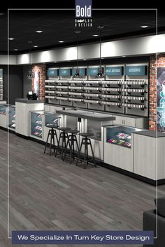 We create custom store designs at stock fixture pricing. We take your store floor plan, design a full color store rendering like the pin images. Then quote and manufacturer your unique store, it's easy! Drop us a email and we will get in contact with you. Visit our dedicated sites: bolddisplaycbd.com bolddisplayvape.com #storedesign #retailstoredesign #Vapestoredesign #instoredesign #storelayout #retailstoreinterior #wellnessstoredesign #storefixturedisplays Vape Store Design, Retail Store Design, Store Layout, Plan Design, Floor Plans, Quote, Drop, Flooring, Create
