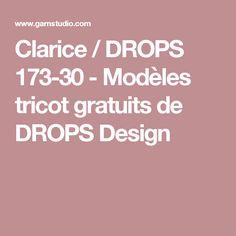 Clarice / DROPS 173-30 - Modèles tricot gratuits de DROPS Design
