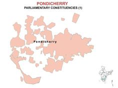 Pondicherry Lok Sabha 2014 Election Constituency Map