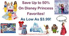 DON'T MISS OUT! Save up to 50% on Disney Princess Favorites! Be sure to check out the Disney Princess Dress-Up Trunk for only $17.99!  Click the link below to get all of the details ► http://www.thecouponingcouple.com/disney-princess-favorites/ #Coupons #Couponing #CouponCommunity  Visit us at http://www.thecouponingcouple.com for more great posts!