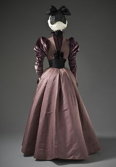 House of Rouff (France, Paris, born 1884)  Woman's Dress, circa 1897  Costume/clothing principle attire/entire body, Silk twill and silk cut velvet on twill foundation