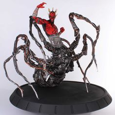 Gentle Giant Studios Star Wars: Darth Maul Spider Statue One of the largest statues we've ever made, this new piece celebrates the return of one of the Prequel Darth Maul Clone Wars, Star Wars Darth, Darth Maul Spider Legs, Giant Star, Star Wars Room, Harry Potter, Anime Figurines, Gentle Giant, Sculpting