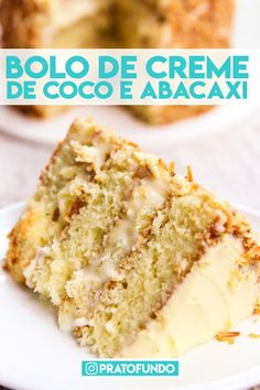Creamy Pineapple and Coconut Cake Brownie Recipes, Cake Recipes, Snack Recipes, Coconut Custard, Decadent Cakes, Merian, Pumpkin Spice Cupcakes, Fall Desserts, Ice Cream Recipes