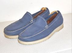 Rockport Men's Blue Leather Washable Deck Boat Loafer Shoe Size 9 W #Rockport #LoafersSlipOnsDeckBoatShoe