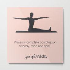 Pilates Inspiration Metal Print. PILATES POSTER - Pilates Art Print - Pilates Studio Decor - Pilates Inspiration - Pilates Wall Decor - Pilates Wall Art -  Inspirational Wall Art - Wall Decor Poster
