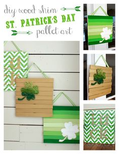 St. Patrick's Day Wood Shim Art  |  View From The Fridge