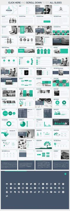 Pitch Deck Google Slides Template by SlidePro on @creativemarket