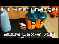 ▶ Oil and Filter Change on a 2009 GSX-R 750 - YouTube