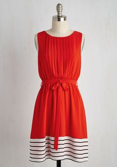 You've Got a Friend in Glee A-Line Dress in Crimson. As bright as your brio and as sweet as your salutations, this fiery red dress was made for you! #red #modcloth