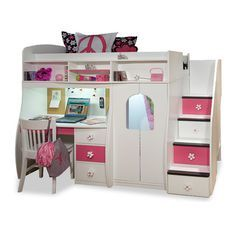Berg Twin Loft with Central Play Area + Desk & Reviews | Wayfair