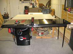 SawStop table saw setup....finally