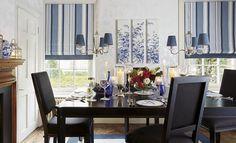 Идея интерьера гостиной в синих тонах. #интерьер #дизайн #красота #lauraashleyru