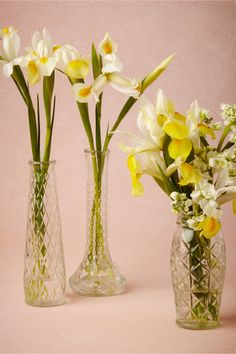 Transparent Argyle Vases from BHLDN