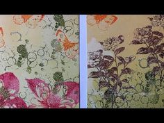 Distress oxides on the Gelli plate - process video - YouTube