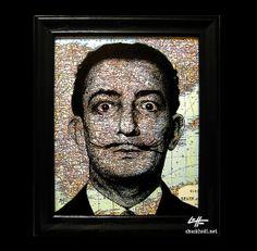 Salvador Dali  Original Drawing  Surreal Artist by chuckhodi, $85.00