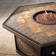 The colors aren't quite what I'm looking for, but I like that the firepit is also a table.