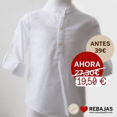 Camisa cuello mao, tipo polera y con manga remangable en oxford blanco al 50% en www.nollorespatito.com