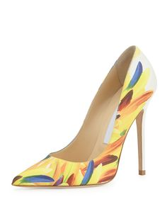 Jimmy Choo Abel Printed Leather 100mm Pump, Multi