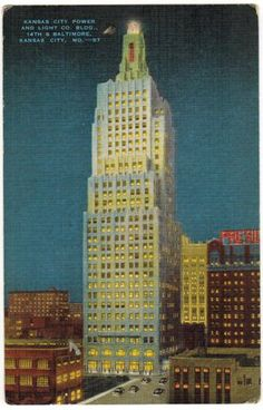 Kansas City Power and Light Company Building, Kansas City,... | Art Deco Architecture | Bloglovin'