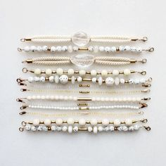"""thevamoose: """" Gemstone and rope bracelets with citrine, quartz and jasper """" Gemstone Bracelets, Gemstone Jewelry, Beaded Jewelry, Jewelry Bracelets, Handmade Jewelry, Rope Bracelets, Bracelet Making, Jewelry Making, Fashion Jewelry"""