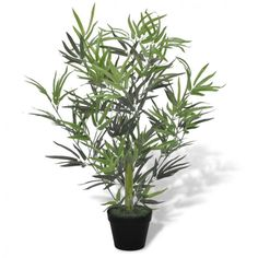 Artificial Plant Tree Bamboo Black Pot Outdoor Garden Home Office Lifelike Leave