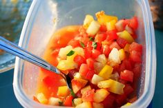 early red, yellow tomato salad by smitten kitchen
