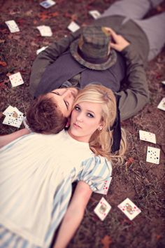 Alice in Wonderland Engagement photos  (must also check out his other fairy tales pics)