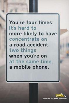 Evita usar tu smartphone mientras conduces. #phone #ad