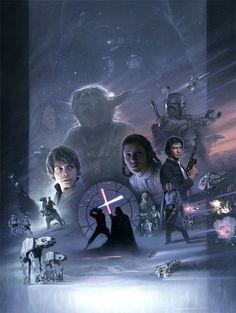 Star Wars artwork by Jerry Vanderstelt